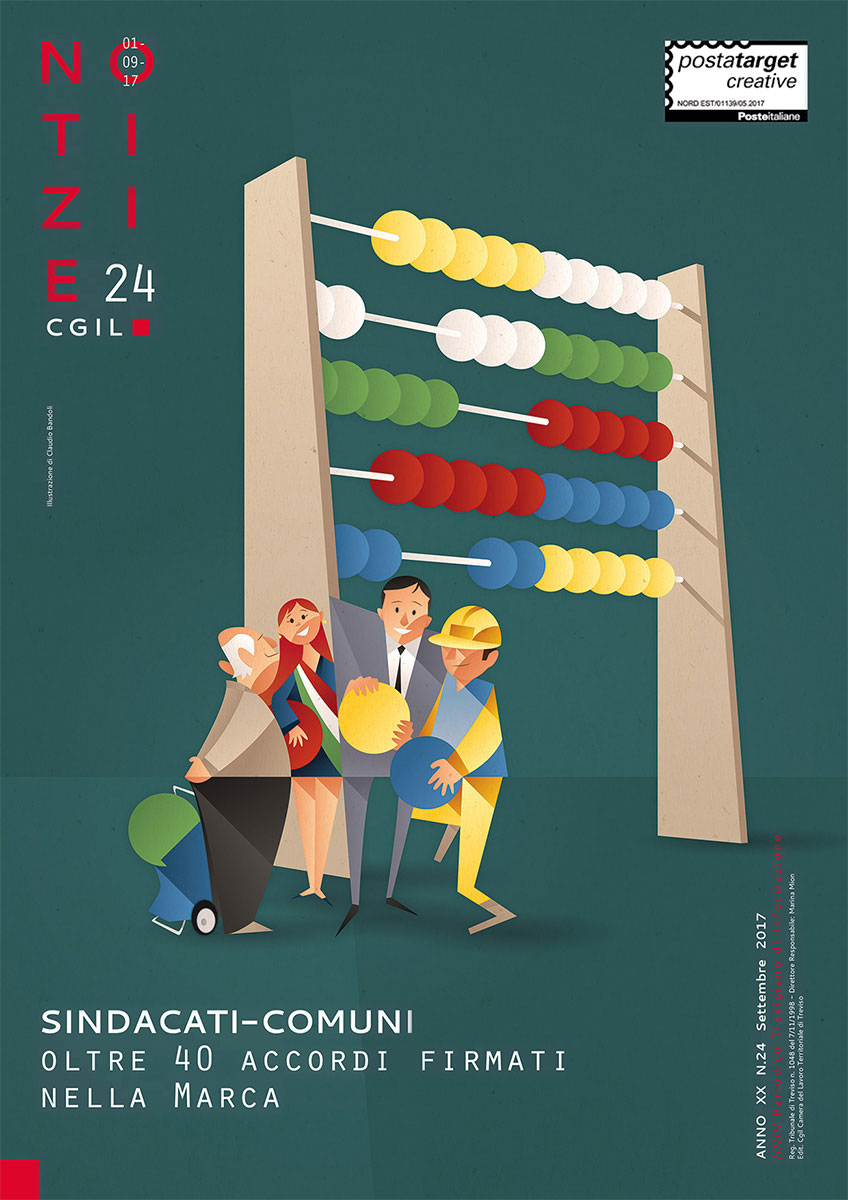 Notizie CGIL n.24 - Illustration by Claudio Bandoli